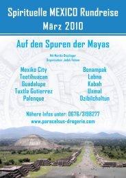 Spirituelle MEXICO Rundreise März 2010 - Paracelsus Drogerie
