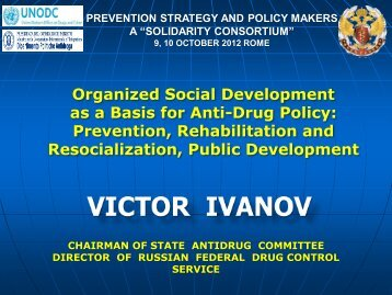 Organized Social Development as a Basis for Anti-Drug Policy ...