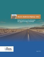 The U.S. Health Care Highway—2012 - The Physicians Foundation