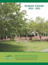 Academic Calendar 2012 – 2013 - manage