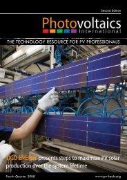 TIGO ENERGY presents steps to maximize PV solar production over ...