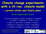 Climate change experiments with a high-resolution climate model