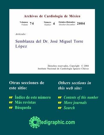 Semblanza del Dr. José Miguel Torre López - cicbi - Universidad ...