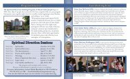 For a 2013 – 2015 Spiritual Direction Training Program flyer, click ...