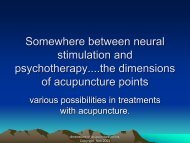 Somewhere between neural stimulation and psychotherapy....the ...