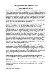 Thüringer Ökolandbau-Aktionstage 2012 - Thüringer Ökoherz e.V.