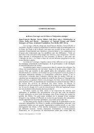 omptes rendus - Region et Developpement - Université du Sud ...