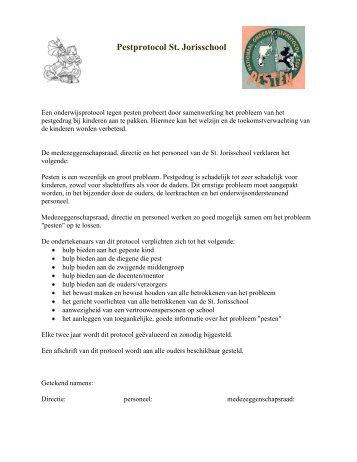 Download het pestprotocol - St. Jorisschool Nijmegen