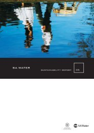2004-05 Sustainability Report - SA Water