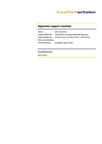 Algemeen rapport resultaat - St. Jorisschool Nijmegen