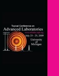Conference Program - ComPADRE.org