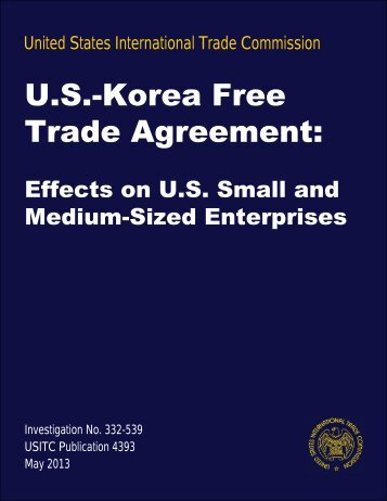 Effects on US Small and Medium-sized Enterprises - USITC
