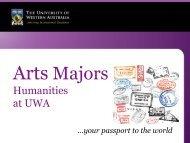 Humanities Majors - The University of Western Australia
