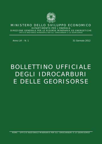 Bollettino Ufficiale degli Idrocarburi e delle Georisorse - Unmig ...