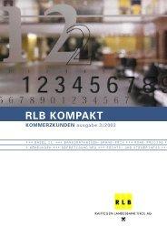 RLB Kompakt 2/03 blauer!!!!! - Raiffeisen