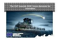The CAP towards 2020: future demands forinnovation - GeoFARMatics