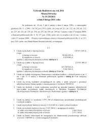 Uchwała Budżetowa na rok 2011 Miasta Otwocka Nr IV/20/2011 z ...