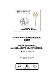 1a conferenza - Centri di Preparazione al Matrimonio