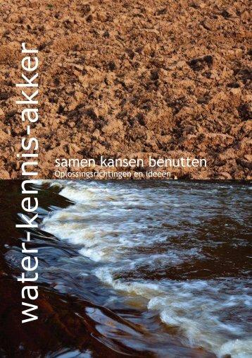 Brochure Water - Kennis - Akker (pdf, 32 pagina's)