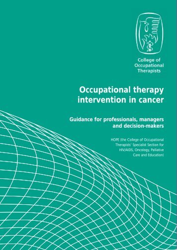 Occupational therapy intervention in cancer - College of ...