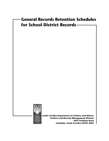 General Records Retention Schedules for School District Records