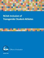 NCAA Inclusion of Transgender Student-Athletes - USC Student ...