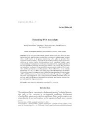 Noncoding RNA transcripts - Poznań
