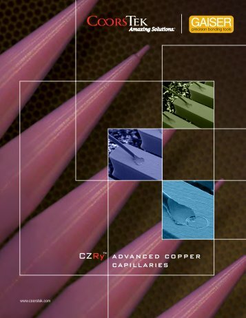CZRy advanced copper capillaries - CoorsTek