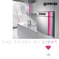 Pdf katalog: Karim Rashid: The touch of light - Gorenje