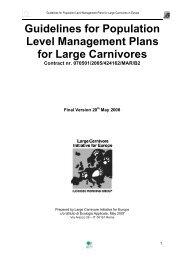Guidelines for population level management plans for ... - Medvede SK