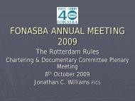 The Rotterdam Rules - FONASBA