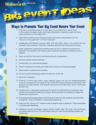 Ways to Promote Your Big Event Before Your Event - Walsworth ...