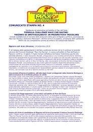 COMUNICATO STAMPA - Maxi Car Racing