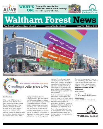 Issue 78: Standing together - Waltham Forest Council