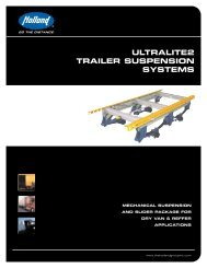 ULTRALITE2 TRAILER SUSPENSION SYSTEMS