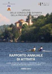 RAPPORTO ANNUALE DI ATTIVITÀ - Provincia di Varese