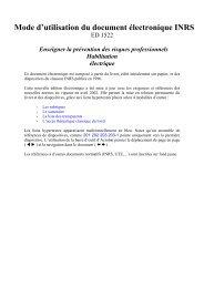 Mode d'utilisation du document électronique INRS ED 1522…