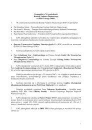 Komunikat z XL posiedzenia Komisji Nadzoru Finansowego w dniu ...