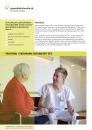 FACHFRAU / FACHMANN GESUNDHEIT EFZ - OdA Gesundheit