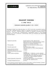 ZNALECKÝ POSUDEK - Exekutorský úřad Český Krumlov