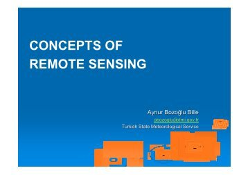 CONCEPTS OF REMOTE SENSING
