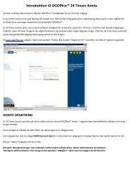 Introduktion til DGOffice™ 24 Timers Konto - DGM Denmark
