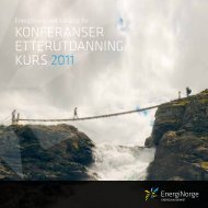 KONFERANSER ETTERUTDANNING KURS 2011 - Energi Norge