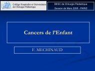 Généralités sur les cancers de l'enfant - SOFOP