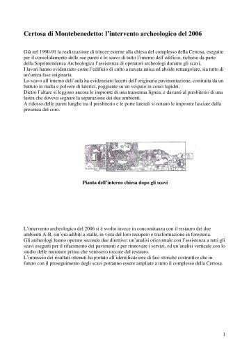 L'intervento archeologico - Valle di Susa. Tesori di Arte e Cultura ...