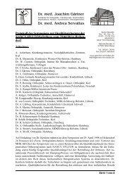 Protokoll - Dr. med. Joachim Gärtner & Dr. med. Andrea Servatius