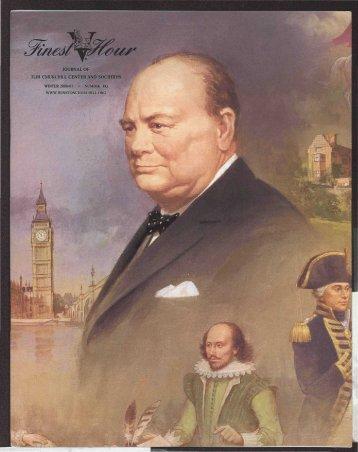 journal oi- tlih cmukchill center and socihiihs - Winston Churchill