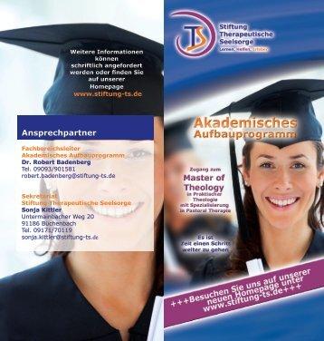Akademisches Aufbauprogramm - Stiftung Therapeutische Seelsorge