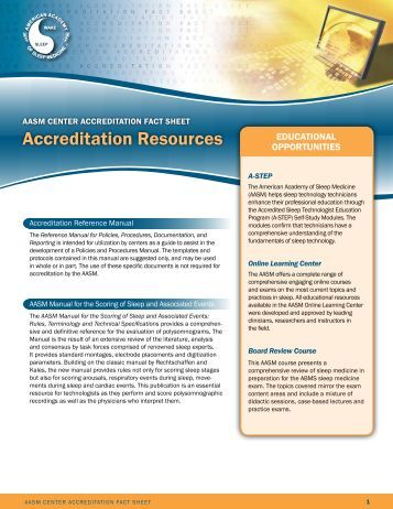 Accreditation resources - American Academy of Sleep Medicine