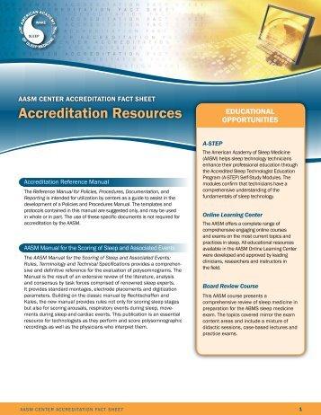 Accreditation resources - American Academy of Sleep Medicine
